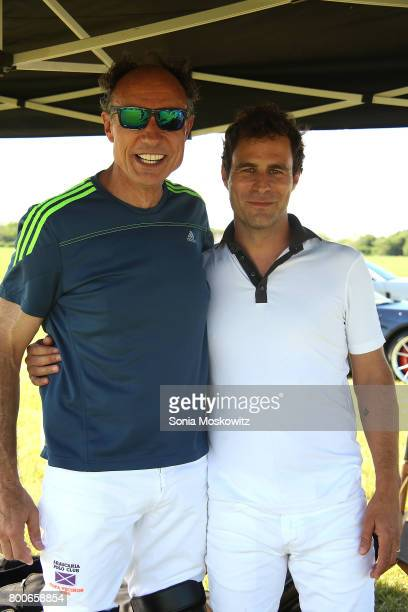 Stefano Natella and Martin Pepa attend the First Annual Polo Hamptons Match at Southampton Polo Club on June 24 2017 in New York City