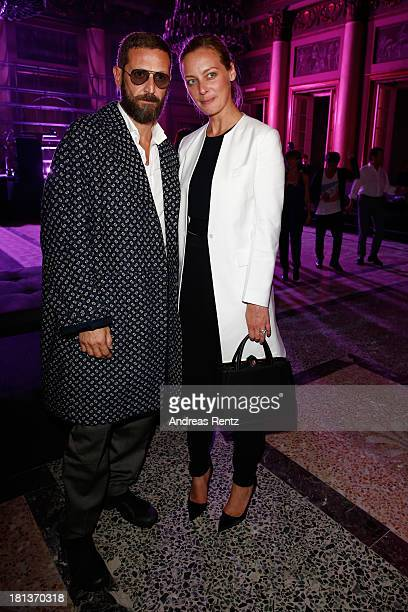 Stefano Pilati and Jessica Diehl attend Agnona Collezione Zero By Stefano Pilati cocktail and Alison Moyet concert as a part of Milan Fashion Week...