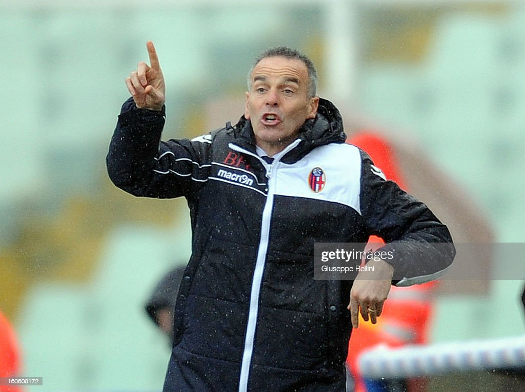 Stefano Pioli head coach of Bologna during the Serie A match between Pescara and Bologna FC at Adriatico Stadium on February 3, 2013 in Pescara, Italy.