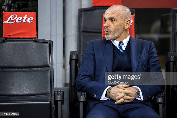 Stefano Pioli head coach of FC Internazionale looks on before the Serie A football match between FC Internazionale and ACF Fiorentina FC...