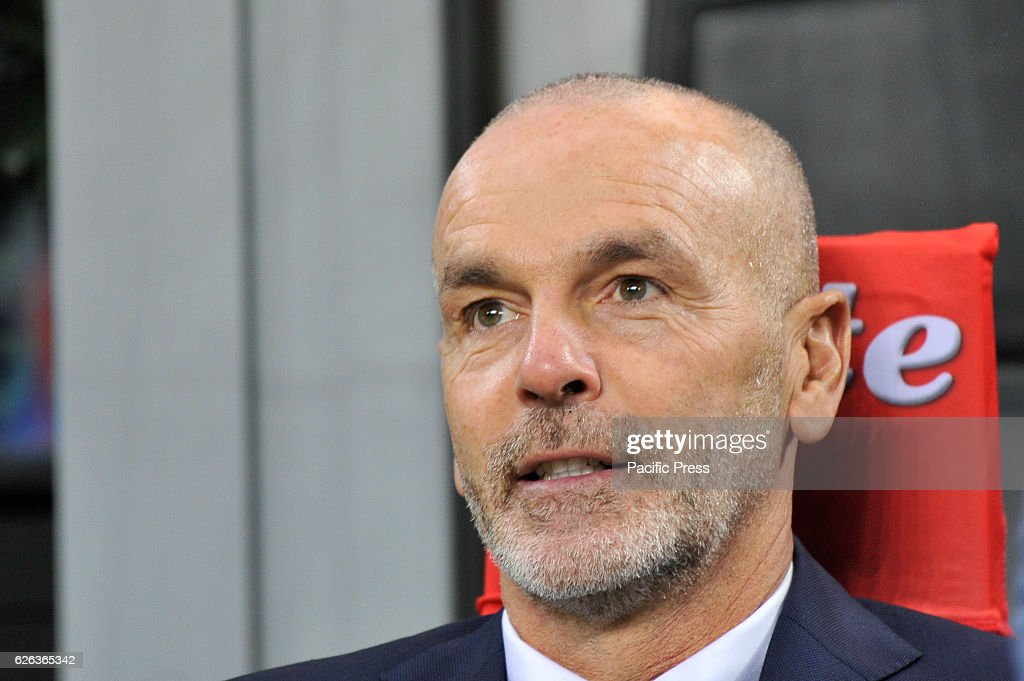 Stefano Pioli head coach of Inter during the football match Inter versus Fiorentina.