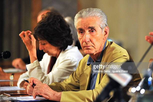 Stefano Rodota president of the Scientific Commitee of the Agency for Human Rights of UE attends a public meeting on 'The Truth on Ustica Plane Crash...