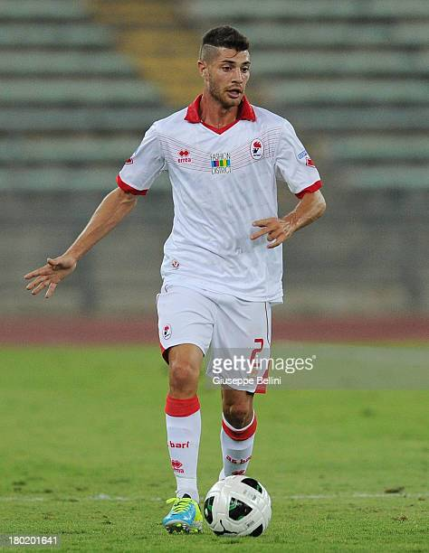 Stefano Sabelli of Bari in action during the Serie B match between AS Bari and Brescia Calcio at Stadio San Nicola on August 31 2013 in Bari Italy