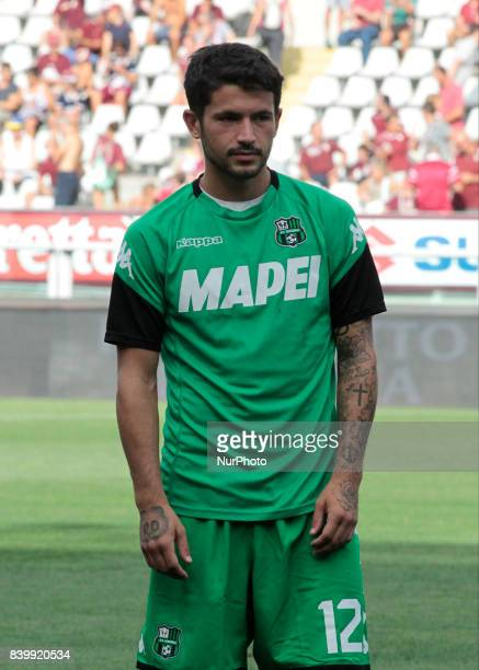 Stefano Sensi during Serie A match between Torino v Sassuolo in Turin on August 27 2017