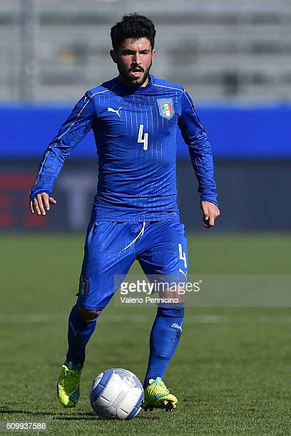 Stefano Sensi of Italy U21 in action during the friendly match between Italy U21 and Italy B on February 10 2016 in Chiavari Italy