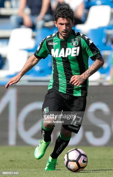 Stefano Sensi of US Sassuolo Calcio in action during the Serie A match between US Sassuolo and Cagliari Calcio at Mapei Stadium Citta' del Tricolore...