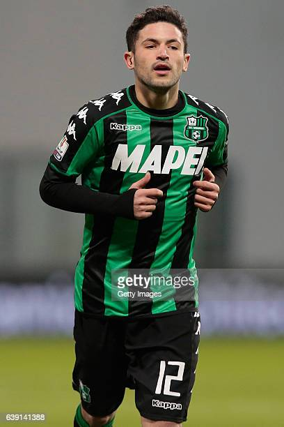 Stefano Sensi of US Sassuolo Calcio is pictured during the TIM Cup match between US Sassuolo and AC Cesena at Mapei Stadium Citta' del Tricolore on...