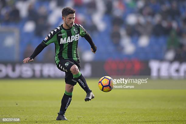 Stefano Sensi of US Sassuolo in action during the Serie A football match between US Sassuolo and FC Internazionale FC Internazionale wins 10 over US...
