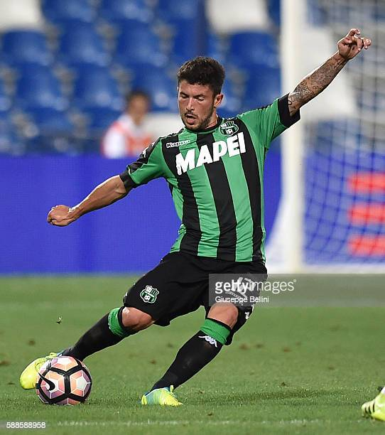 Stefano Sensi of US Sassuolo in action during the Third Qualifying Round Europa League between US Sassuolo and FC Luzern at Mapei Stadium Città del...