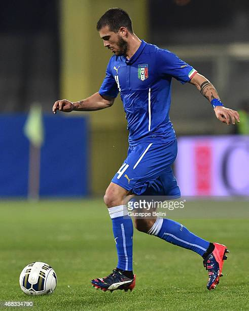 Stefano Sturaro of Italy in action during the international friendly match between Italy U21 and Serbia U21 at Stadio Ciro Vigorito on March 30 2015...