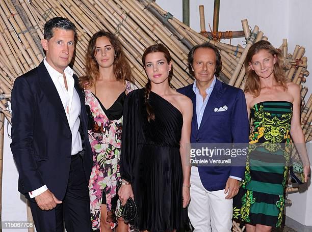 Stefano Tonchi Alexia Niedzielski Charlotte Casiraghi Andrea Della Valle and Elisabeth Von Guttman attend the 'Hogan And Big Bambu' Cocktail Party...