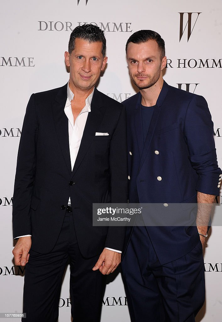 Stefano Tonchi and Dior Homme Creative Director Kris Van Assche attend the World Premiere of Bruce Weber's Film 'CAN I MAKE THE MUSIC FLY' hosted by DIOR Homme's Kris Van Assche, Bruce Weber, & W Magazine's Stefano Tonchi in Celebration of The New Dior Homme Miami Boutique at The Moore Building on December 5, 2012 in Miami, Florida.