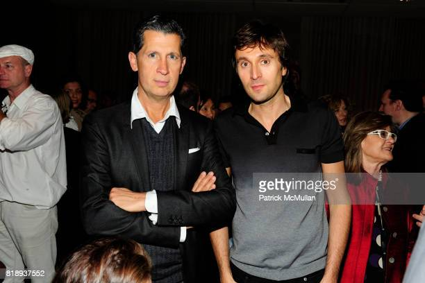 Stefano Tonchi and Francesco Vezzoli attend FLOS Private Store Viewing and Dinner at 152 Greene St on May 14 2010 in New York City