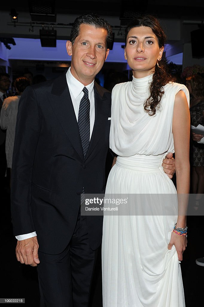 Stefano Tonchi (L) and Giovanna Battaglia attend the Style Star Party at Carlton Beach during the 63rd Annual International Cannes Film Festival on May 21, 2010 in Cannes, France.