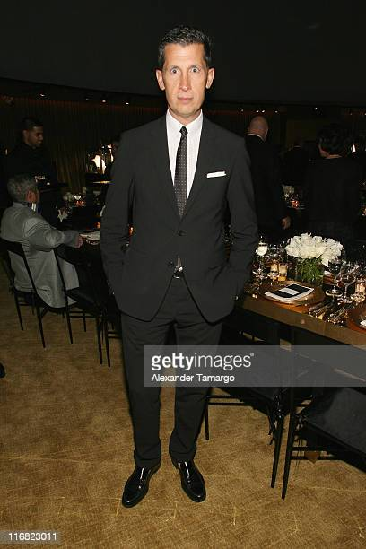 Stefano Tonchi attends a private dinner in honor of Anri Sala at the Cartier Dome Miami Beach Botanical Garden on December 2 2008 in Miami Beach...