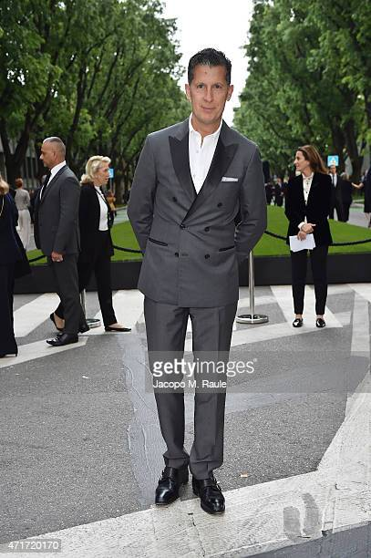 Stefano Tonchi attends the Giorgio Armani 40th Anniversary Silos Opening And Cocktail Reception on April 30 2015 in Milan Italy