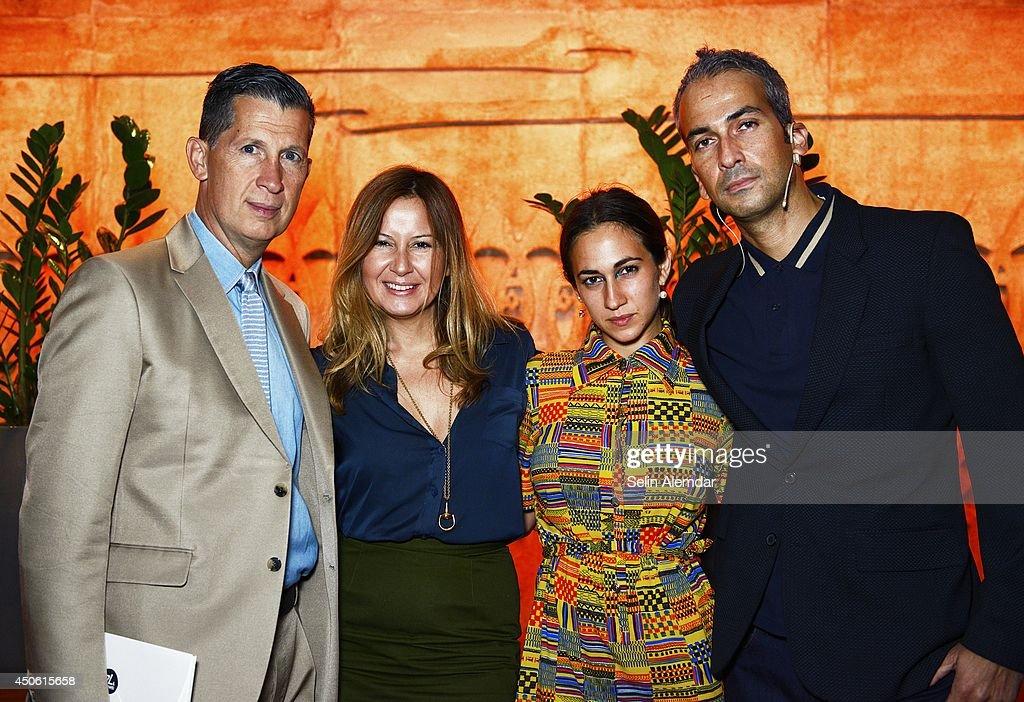 Stefano Tonchi Demet Muftuoglu Eseli Delfina Delettrez and Alphan Eseli attend the annual international art and culture event 'Istancool' on June 14...