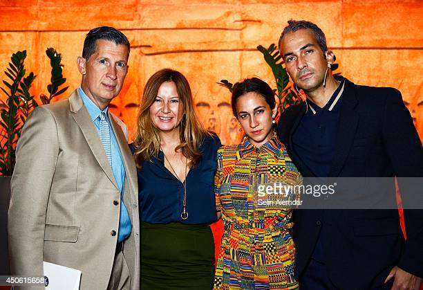 Stefano Tonchi Demet Muftuoglu Eseli Delfina Delettrez and Alphan Eseli attend the annual international art and culture event 'Istancool' on June 14...