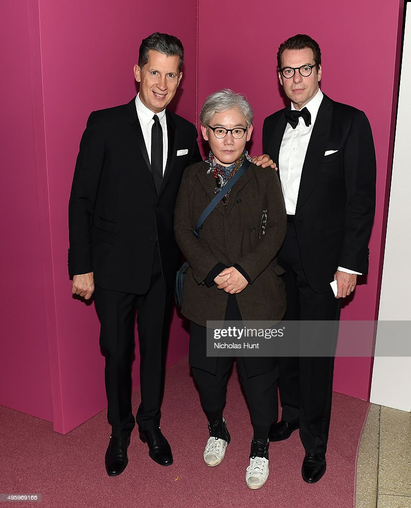 Stefano Tonchi, Lee Bull and David Maupin attend the 2015 Guggenheim International Gala Dinner made possible by Dior at Solomon R. Guggenheim Museum on November 5, 2015 in New York City.