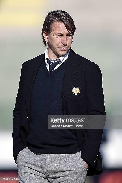 Stefano Vecchi head coach of FC Internazionale looks during the Viareggio Juvenile Tournament match between FC Internazionale and Rappresentativa...