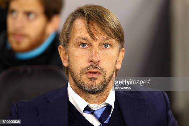 Stefano Vecchi Manager of Internazionale looks on during the UEFA Europa League Group K match between Southampton FC and FC Internazionale Milano at...