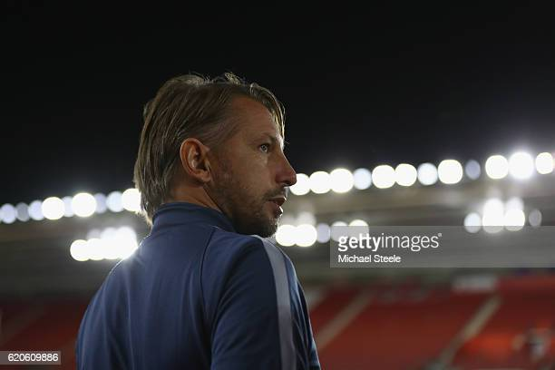Stefano Vecchi the interim coach of Inter during the FC Internazionale Milano training session at St Mary's Stadium on November 2 2016 in Southampton...