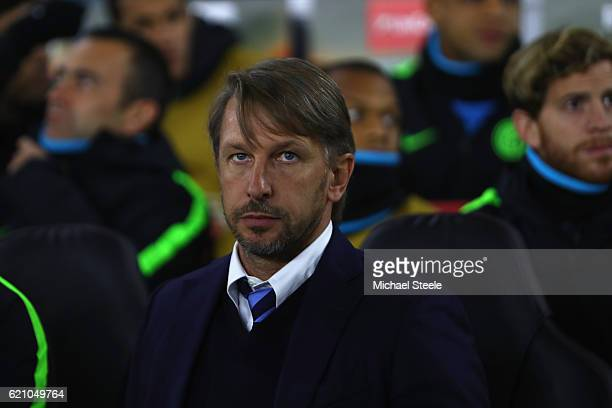 Stefano Vecchi the interim coach of Inter during the UEFA Europa League match between Southampton FC and FC Internazionale Milano at St Mary's...