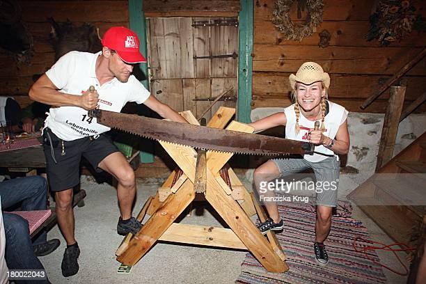 Stefen Wink Und Dorkas Kiefer Bei Der Abendveranstaltung Im Hotel Neuhaus In Mayrhofen Nach Der Ersten Etappe Vom 'Grossen Grenzverkehr 2007' In...