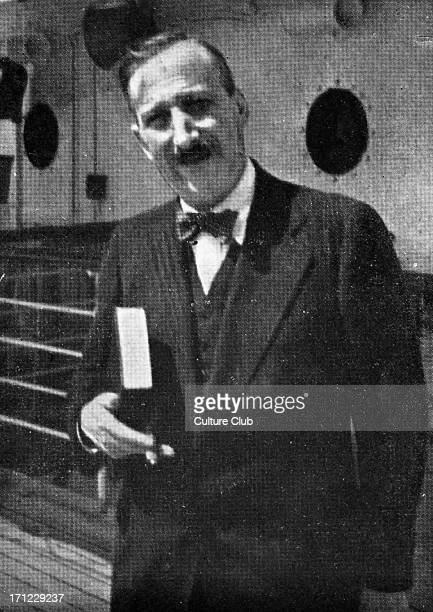 Stefen Zweig on SS Uruguay on his last voyage to Brazil August 1941SZ Austrian writer biographer diarist essayist novelist playwright poet translator...