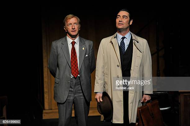 Steffan Rhodri as Walter Harrison and Nathaniel Parker as Jack Weatherill in James Graham's This House directed by Jeremy Herrin at the Garrick...