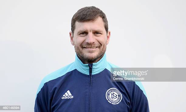 Steffen Baumgart poses during the DFB Coach Course Photocall on December 8 2014 in Hennef Germany