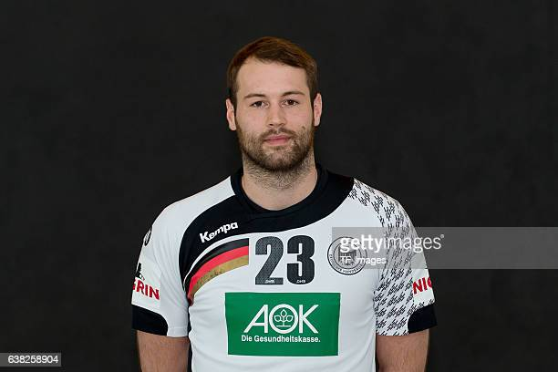 Steffen Faeth of Germany poses during the handball national team of Germany presentation prior to the Handball World Championship in France on...