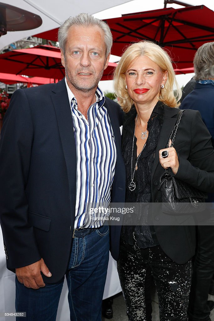 Steffen Goepel and Lorita Goepel during the 'Ein Herz fuer Kinder' summer party at Wannseeterrassen on May 26, 2016 in Berlin, Germany.