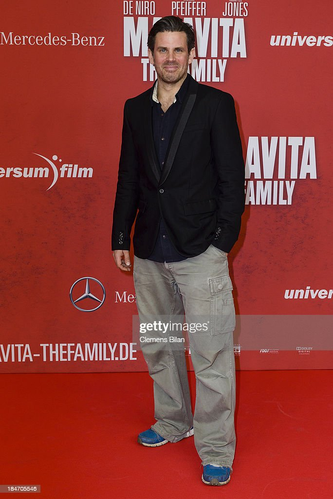 Steffen Groth attends the 'Malavita' premiere at Kino in der Kulturbrauerei on October 15, 2013 in Berlin, Germany.