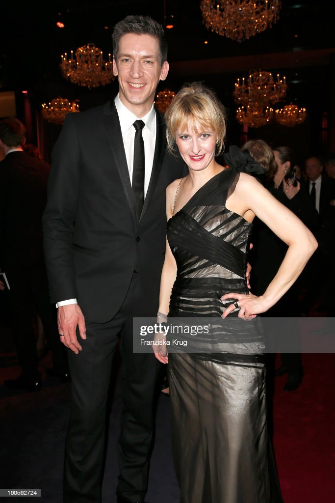 Steffen Hallaschka and Anne-Katrin Hallaschka attend 'Goldene Kamera 2013' at Axel Springer Haus on February 2, 2013 in Berlin, Germany.