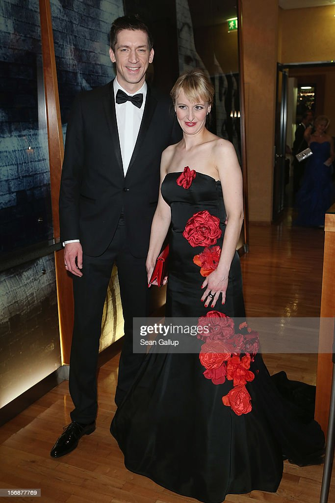 Steffen Hallaschka and Anne-Katrin Hallaschka attend the 2012 Bundespresseball (Federal Press Ball) at the Intercontinental Hotel on November 23, 2012 in Berlin, Germany.