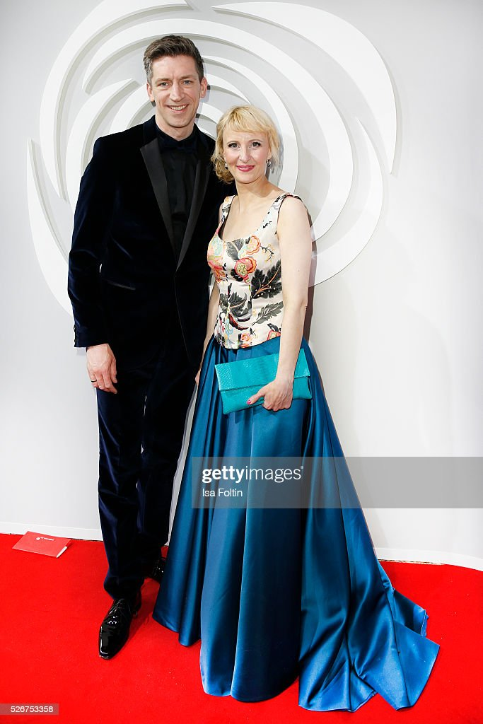 Steffen Hallaschka and Anne-Katrin Hallaschka attend the Rosenball 2016 on April 30, 2016 in Berlin, Germany.
