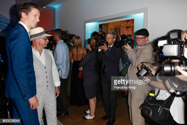 Steffen Hallaschka and Horst Lichter attend the 'Bertelsmann Summer Party' at Bertelsmann Repraesentanz on June 22 2017 in Berlin Germany