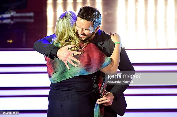 Steffen Henssler and Petra Mannfeld are seen during the 'Goldene Bild Der Frau' Award 2015 at Stage Operettenhaus on October 29 2015 in Hamburg...