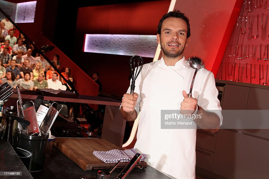 Steffen Henssler attends the 'Grill den Henssler - die neue Kocharena' Photocall at Coloneum on August 23, 2013 in Cologne, Germany.