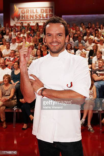 Steffen Henssler attends the 'Grill den Henssler die neue Kocharena' Photocall at Coloneum on August 23 2013 in Cologne Germany