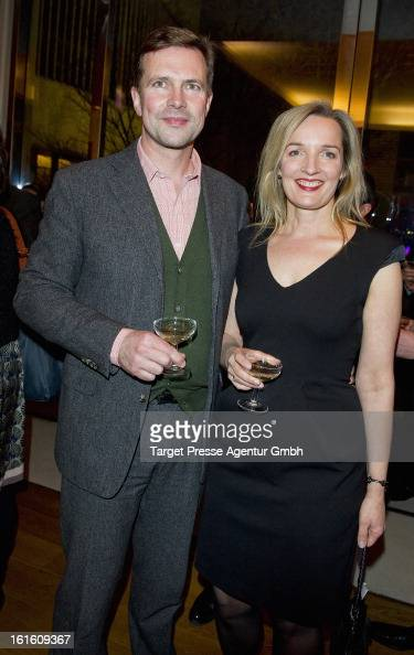 Steffen Seibert and his wife sophia Seibert attends the 'Soiree Francaise Du Cinema' at the French embassy on February 12 2013 in Berlin Germany