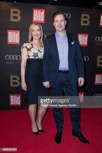Steffen Seibert and Sophia Gundlach attends the BILD 'Place to B' Party at Grill Royal on February 8 2014 in Berlin Germany