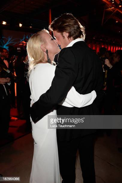 Steffen von der Beeck and Jenny Elvers attend the Deutscher Fernsehpreis 2013 after party at the Coloneum on on October 2 2013 in Cologne Germany