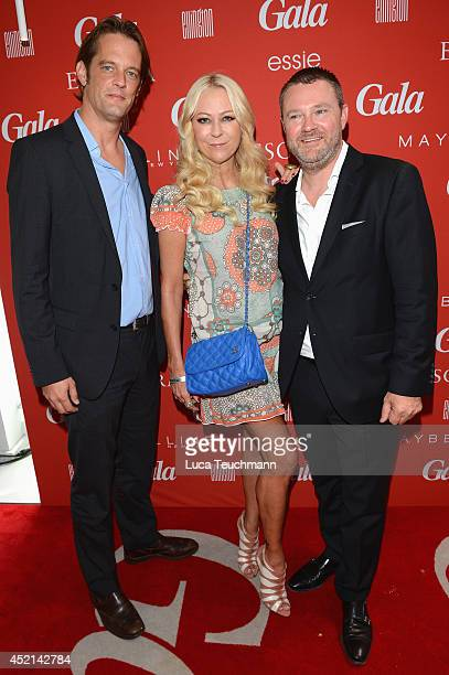 Steffen von der Beeck Jenny Elvers and Christian Krug attend the Gala Fashion Brunch at Ellington Hotel on July 11 2014 in Berlin Germany