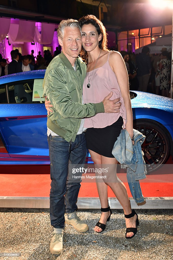 Steffen Wink and Genoveva Mayer during the Audi Director's Cut during the Munich Film Festival 2016 at Praterinsel on June 25, 2016 in Munich, Germany.