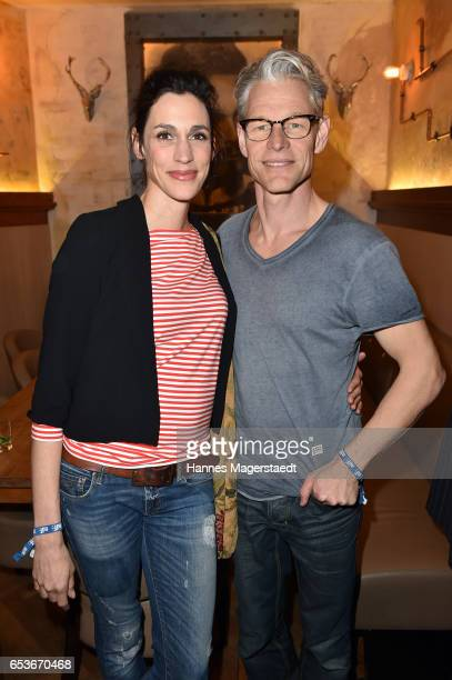 Steffen Wink and his wife Genoveva Mayer during the NdF after work press cocktail at Parkcafe on March 15 2017 in Munich Germany