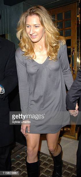 Steffi Graf during Steffi Graf and Andre Agassi Sighting in London February 21 2007 in London Great Britain