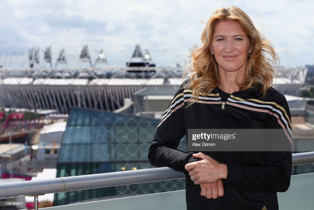 Steffi Graf of Germany at the adidas Olympic Media Lounge at Westfield Stratford City on August 4, 2012 in London, England.