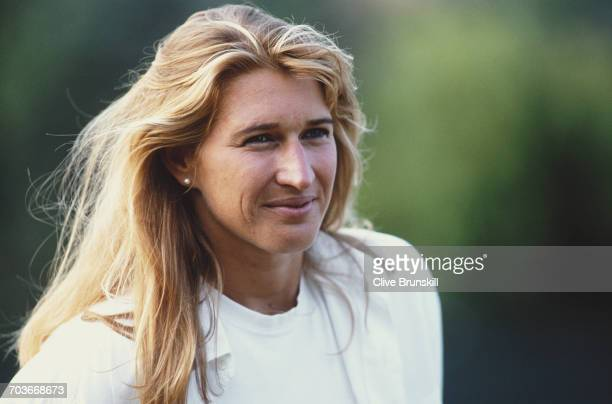 Steffi Graf of Germany poses for a portrait for sports clothing accessories company Adidas at the Australian Open tennis tournament on 27 January1999...